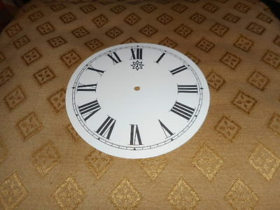 "Round Junghans Paper Clock Dial -  5"" M/T - Roman - White - Face / Clock Parts"