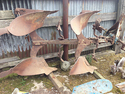 Ransomes 2 furrow turnover plough with some spare parts
