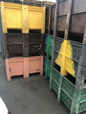 3 x DOLAV Plastic Pallet Box Storage Bin 1200 X 1000mm Heavy Duty  B-Grade
