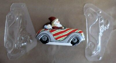 Commercial Quality PC Chocolate Mold f/ Antique German Mold Santa in Car Used