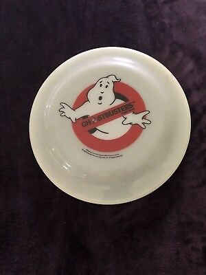 Vintage!! 1986 Ghostbusters Cereal Frisbee Ghost Logo Flying Disc Ralston RARE