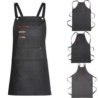 Adjustable Unisex Tool Apron Up to XXL Upgraded for Heavy Duty Waxed Canvas...