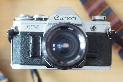 Canon AT-1 SLR 35mm Film Camera with 28mm f2.8 Lens - Decent Condition