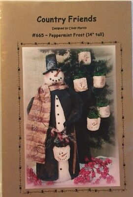 """Primitive PATTERN """"Peppermint Frost"""" COUNTRY FRIENDS By Cindy Martin"""