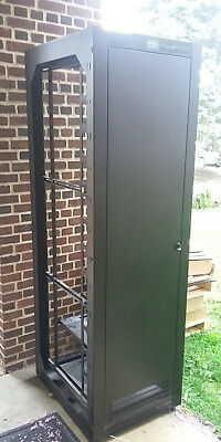Hubbell Black Server Datacenter Cabinet w/ Side Panels and Doors [LOCAL PICKUP]