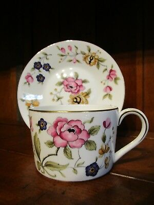 Vintage Coalport San Remo Cup & Saucer with Flowers Bone China England
