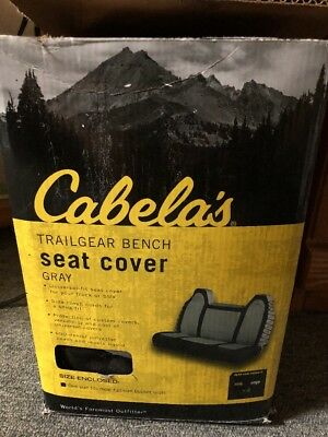New Cabela's Trailgear Bench Seat Cover for Car/Truck/SUV/Jeep/Off-road - Grey
