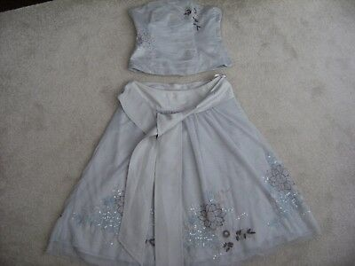 'coast' Beautiful Skirt & Strapless Top,size 10,used !