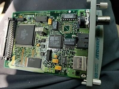 HP J3111A JetDirect 600N Internal Ethernet Print Server Card EIO LocalTalk BNC