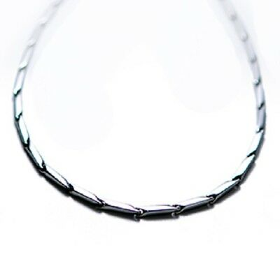 "Nikken Kenko Perfect Link II Magnetic Stainless Steel 18"" Necklace Item 19114"