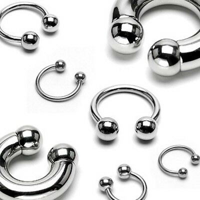 3d87bb805 Surgical Steel Horseshoe Circular Barbell with Ball Septum Nipple Cartilage  Ring