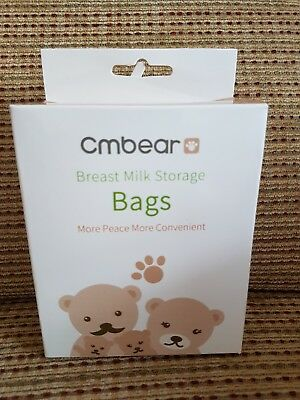 Brand New cmbear Breast Baby Milk Storage Bags X 5 Boxes - 30pcs/box