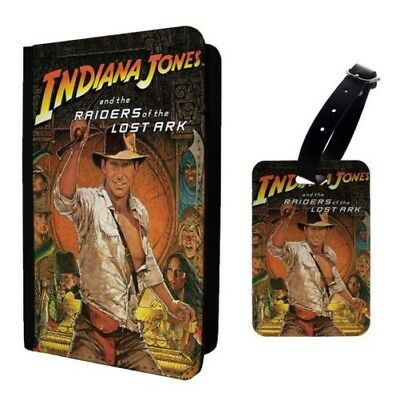Movie Poster Indiana Jones Luggage Tag &/OR Passport Holder - A1277
