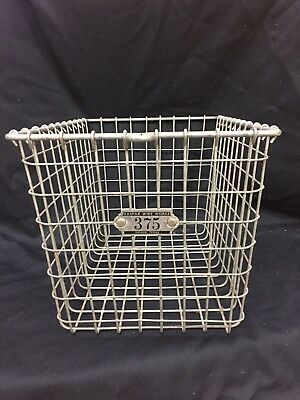 Vintage gym Locker Baskets With Matching Numbers