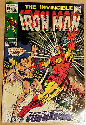 The Invincible Iron Man #25 VF (8.5) May 1970 (Bronze Age)