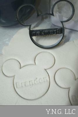 Custom Name Mickey Mouse Head Disney Baby Shower Birthday Cookie Cutter Pr773
