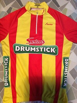 a1b07ea4d SCIMITAR CYCLE CYCLING Jersey Swizzels Drumstick XL Small Red Yellow ...