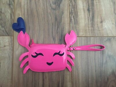 Gymboree Pink Crab Purse With Blue Heart