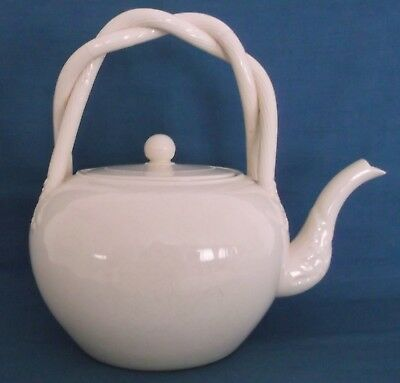Vintage Leedsware Pottery Classical Creamware Large Kettle England Rare