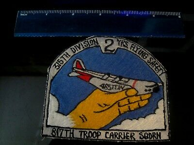 Authentic Large USAF patch 315th Division Flying Safety 817th Troop Squadron