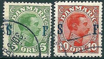 Denmark 1917 - Christian X - Overprint S.F - Used - Fault May Occur