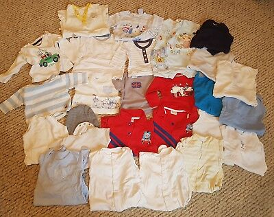 Large Baby Boy 3-6 m  Clothes Bundle , tops , rompers  25 Items