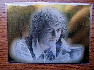 Lord Of The Rings Masterpieces Gold Foil Parallel Card - Pippin 81/99 Rare