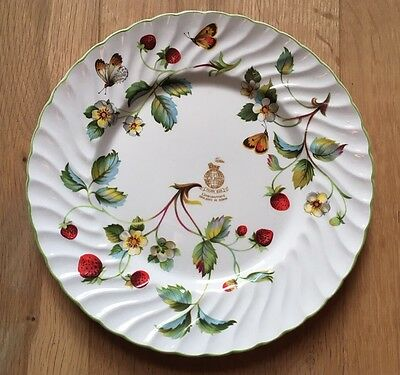 Old Foley James Kent plate: Strawberries and Butterflies - collectable misprint!