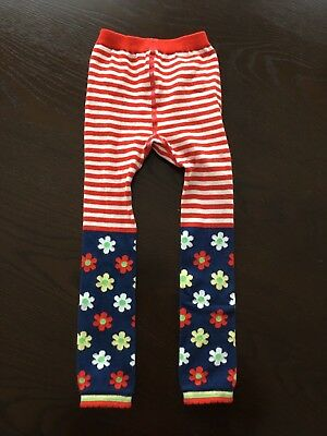 New Hanna Andersson Fun Stripes & Flower Footless Tights  110 120 5 6