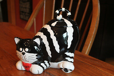 "Ceramic Cookie Jar ""Chester The Cat"""