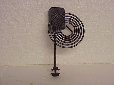 "Used 5 Coil 3 ¾"" Clock Coil Gong On A 6 1/8"" Stand parts repair M"