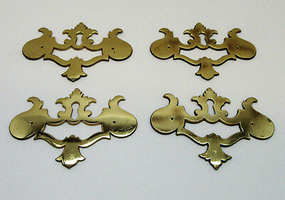 4 Vintage Brass Escutcheons Key Hole Covers Cabinet Furniture Hardware