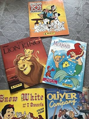 Job Lot Of 5 Vintage Disney Panini Albums