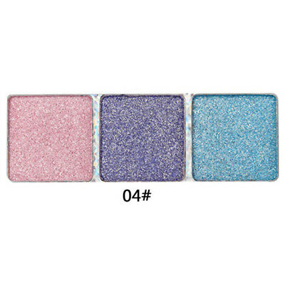 3Colors Eyeshadow Cosmetic Eye Shadow Palette Set Make Up Kit With Brush 4# Hot