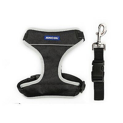 Ancol Travel and Exercise Dog Harness, Large, Black ! New !