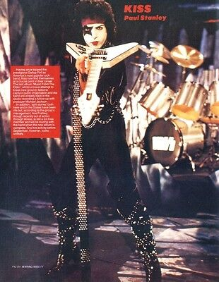 """Ker#15Pg14 Paul Stanley Of Kiss 11X8"""" Colour Pin Up Poster"""