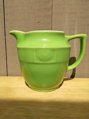 Vintage Hall Pottery Jade Green Pitcher Deco Kitchenware