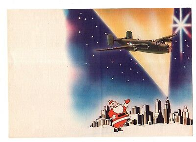 Large Christmas Card with Realistic Pictures of A B-24 Bomber