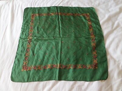 vintage liberty silk green small great condition