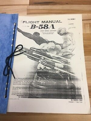 Convair B-58 Hustler Bomber Flight Manual Dash 1 Flight Gear