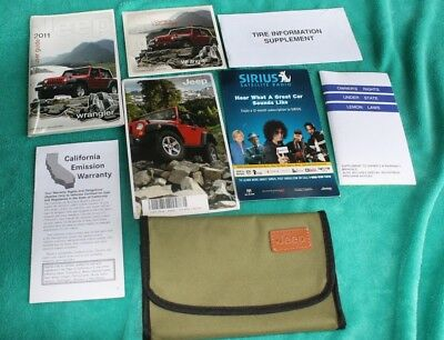 2011 Jeep Wrangler Owners Manual User Guide Rubicon Sahara Unlimited 4X4 2Wd Ltd