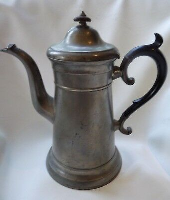 Antique American Pewter Lighthouse Coffeepot by Freeman Porter, Maine