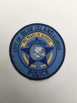 Old City of Blue Island Police, Illinois 1983 Anniversary shoulder patch