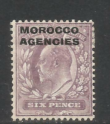 Great Britain 1907-12 Morocco King Edward VII 6p dull violet (206) MH