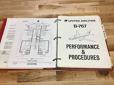 United Airlines Boeing 757 767 Pilot Manuals 1990's