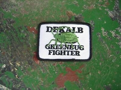 Vintage Dekalb Seed Corn Greenbug Fighter Patch Sign