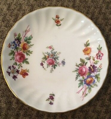 Marlo Minton English Bone China Mini Plate Saucer Dish Vintage Gold Trim