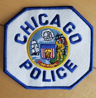 Authentic Chicago Police Department - Felt/vinyl Iron On Embroidered Patch