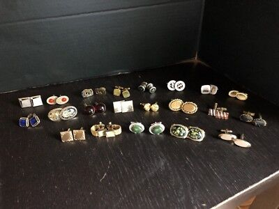 Vintage Lot Of Men's Cufflinks 21 Pair