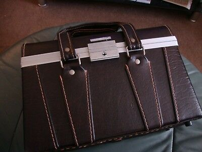 vintage leather camera case, brown, great condition.